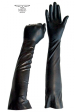 Gants longs BDSM en latex - Paire de gants spécial jeux BDSM, fin et souples en latex, pour le look et les jeux de mains.