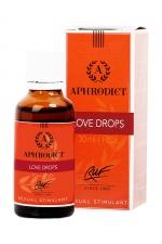 Stimulant sexuel Aphrodict Love Drops - Complément alimentaire aphrodisiaque à base de plantes conçu pour augmenter la libido et le plaisir des couples.
