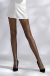 Collants en r�sille, motif chevrons.