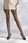 Collants r�sille � mailles fantaisie, style 70's.