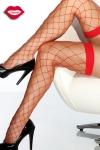 Bas � large r�sille qui dessinent un quadrillage fantaisie sensuel sur vos jambes.