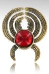 Un bijou de sein unique compos� d'une pince pour t�ton en bronze sertie  de son cristal (7 couleurs).