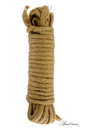 Corde en chanvre, spécialement fabriquée pour la pratique des jeux de bondage et pour ligoter votre partenaire.