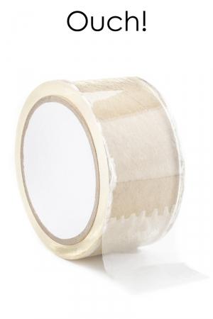 ruban de bondage transparent (20 m), non collant, utilisable pour toutes sortes de jeux coquins, au gré de vos fantasmes.