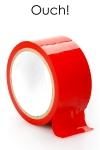 ruban de bondage rouge (20 m), non collant, utilisable pour toutes sortes de jeux coquins, au gr� de vos fantasmes.