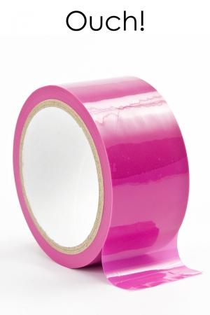 ruban de bondage rose (20 m), non collant, utilisable pour toutes sortes de jeux coquins, au gré de vos fantasmes.