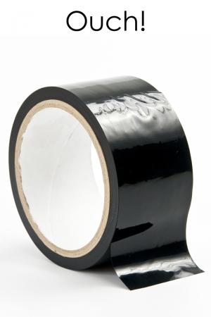 ruban de bondage noir (20 m), non collant, utilisable pour toutes sortes de jeux coquins, au gré de vos fantasmes.