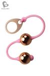 Des boules de Geisha parfaitement �quilibr�es avec finition or rose, pour le plaisir des sens et le plaisir des yeux.