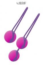 Set boules de geisha Liebe - kit avec 2 types de boules de geisha (1 boule ou 2 boules) pour effectuer au mieux vos exercices de Kegel et du plancher pelvien.