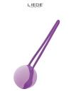 Love Ball en silicone premium, hyper silencieuse, id�ale pour s'initier au port de boules de geisha au quotidien.