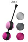 Kit de 5 balles de Kegel avec poids interchangeables + programme d'entrainement pour muscler le plancher pelvien. couleurs Noir/Cerise.