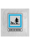 Pr�servatif  Aire De Nic Nic , un pr�servatif personnalis� humoristique de qualit�, fabriqu� en France, marque Callvin.