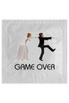 Pr�servatif  Game Over , un pr�servatif personnalis� humoristique de qualit�, fabriqu� en France, marque Callvin.