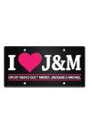 Plaque de porte haute qualit� en m�tal, dimensions 20 x 30 cm, avec message  I love Jacquie & Michel .