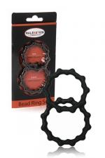 Set 2 cockrings  Bead Ring - Malesation - jeu de 2 cockring avec relief perlé pour plus de sensations tout en sublimant l'érection.