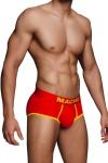 Shorty rouge et jaune ultra sexy sign� de la marque Espagnole pour hommes : Macho Lingerie.