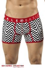 Boxer Chevron - Malebasics - Boxer en coton extensible imprim� d'un motif � chevrons sportif, chic, et masculin.