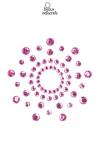 Bijoux de corps en strass roses � poser en corole autour du mamelon pour un effet sexy garanti.