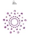 Bijoux de corps en strass violets � poser en corole autour du mamelon pour un effet sexy garant