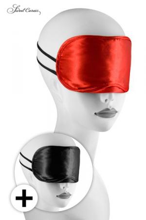 Avec ces 2 masques pour jeux BDSM, occultez lui la vue pour exacerber ses sensations.