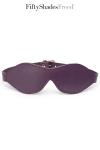 Luxueux bandeau pour les yeux en cuir souple et matelass�, par Fifty Shades of Grey.