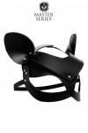 Masque de chat en cuir v�ritable avec rivets orn�s de strass pour vos jeux BDSM