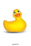 Exigez l'original ! L'authentique petit canard vibrant en format de voyage et  coloris jaune.