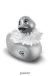 Mini Duckie Paris, argent�, avec son bec paillet�... un cadeau coquin incontournable pour la faire craquer.