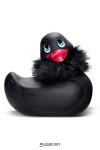 La star des canards vibrants en version  Strass et paillettes , coloris noir et taille classique.