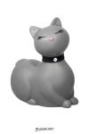 Après le canard mondialement connu, Big Tease Toys nous présente le chat, coloris gris!