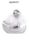 Le c�l�bre canard vibrant  en �dition Mini Paris argent�. nouveau mod�le plus silencieux avec 7 modes de vibrations.