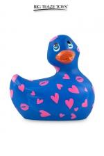 Mini canard vibrant Romance bleu et rose - Déclinaison bleu et rose du célèbre canard vibrant dans la collection  Romance .  I Rub My Duckie est désormais en version 2.0.
