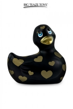 Mini canard vibrant Romance jaune et or - Déclinaison noire et or du célèbre canard vibrant dans la collection  Romance .  I Rub My Duckie est désormais en version 2.0.