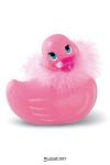 La star des canards vibrants en version  Strass et paillettes  coloris rose et taille classique.