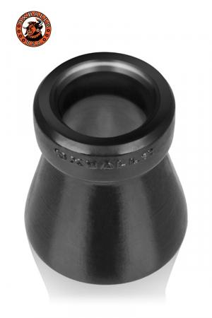 Le cône de la honte... A la fois un cockring et un accessoire de chasteté original, 100% silicone platinum, par Oxballs.