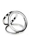 Cockring avec 3 anneaux en acier inoxydable poli soud�s entre eux pour tripler les effets.