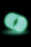 Gaine pour p�nis phosphorescente avec reliefs. Elle brille dans le noir, accroit les sensations et prolonge l'�rection.