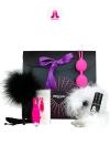 Glamour et coquin, voici le coffret cadeau  version Purple d'Adrien Lastic. sp�cial Plaisir f�minin.