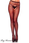Collant sexy en r�sille largement ouvert � l'entre-jambes. Disponible �galement en grande taille.
