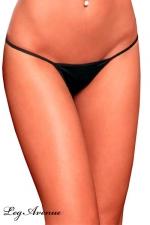 String ficelle Line - noir - Le string ficelle noir, votre petite lingerie sexy indispensable.