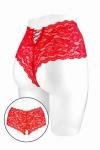 Boxer coquin rouge, �chancr� et ouvert entre les cuisses, par Fashion Secret.