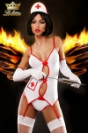 Costume sexy d'infirmi�re, un d�guisement qui fera assur�ment monter la temp�rature !