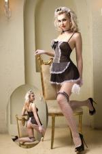 Déguisement sexy soubrette 8 pièces - Costume sexy de soubrette contenant 8 pièces, par la marque Paris Hollywood.