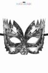 Masque argent� semi rigide et haut pour jouer les Don Juan en toute discr�tion, par Maskarade.