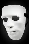 Masque pour homme rigide et blanc qui cache tout le visage, id�al pour cacher votre identit� lors de soir�es libertines.