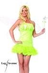 Costume d'Elfe : robe � jupon, baguette magique et serre-t�te.