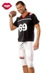 Vous serez trop sexy dans ce costume moulant de footballeur am�ricain, qui porte le num�ro de votre position pr�f�r�e : 69 !