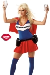 Un costume de super héroïne au pouvoir très spécial : servir des boissons toujours fraîches !
