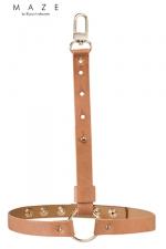 Jarretières marrons - Maze - Une paire de jarretières en matière 100% Vegan, couleur marron, à porter sur ou sous vos vêtements.