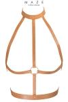 Le harnais H est un harnais d�inspiration BDSM, � porter sur ou sous vos v�tements, en mati�re 100% Vegan (coloris marron).
